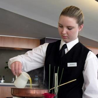 Bar waitress